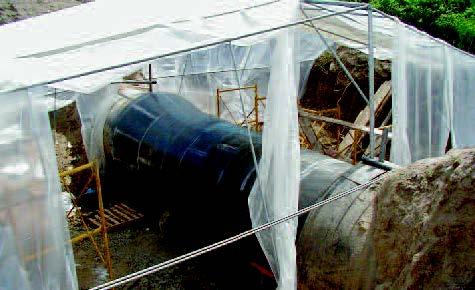 Concrete Pipe Crack Repair – Thessaloniki, Greece