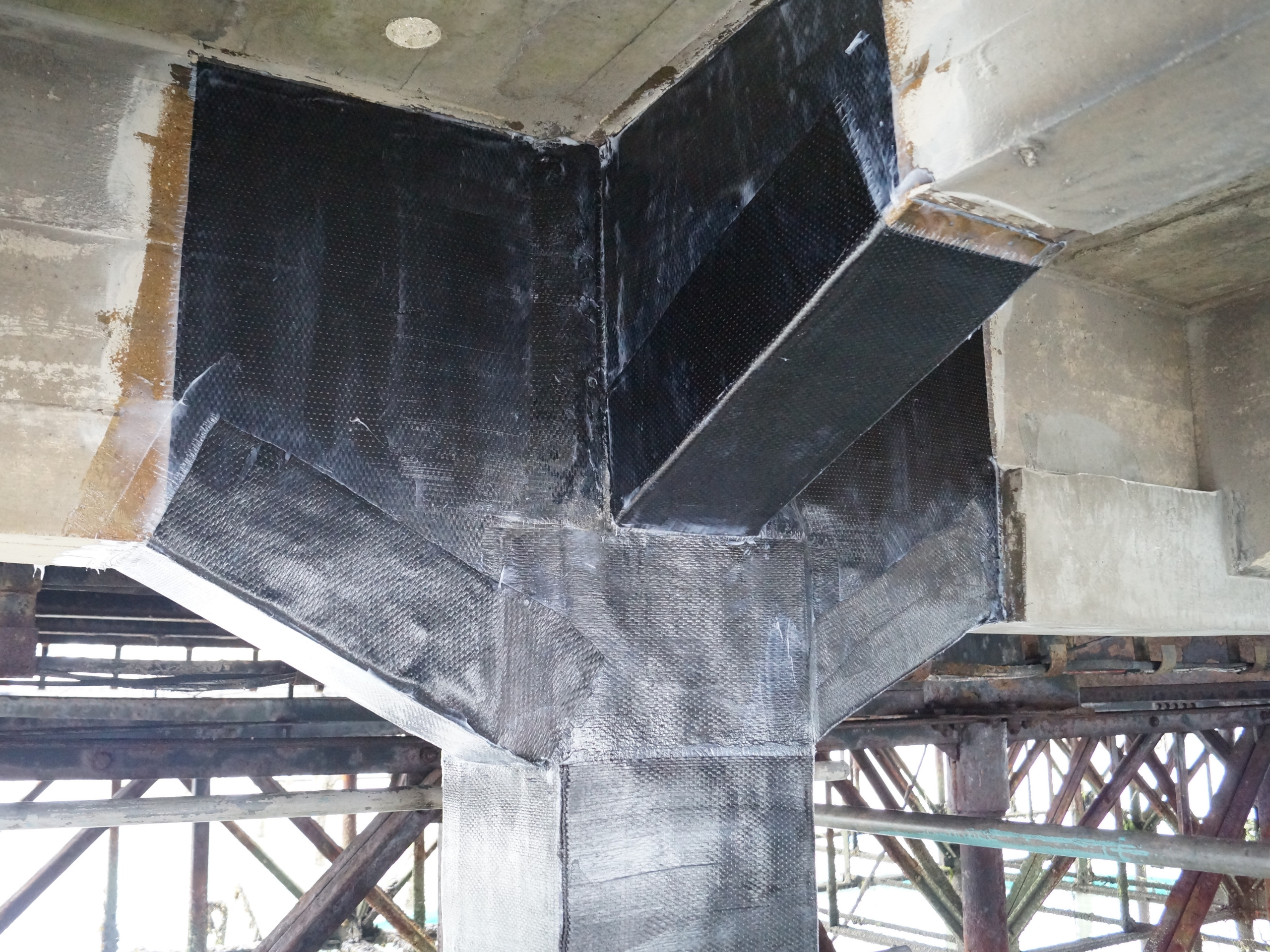 Carbon Fibre Strengthening for additional loads in a Marine Environment